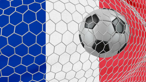 Ball and France flag Footage