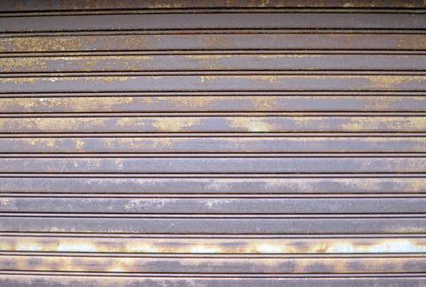 old rolling door shutter フォト