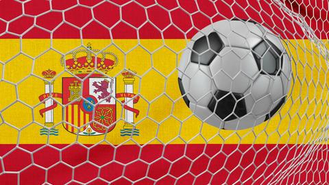Ball and Spain flag Animation