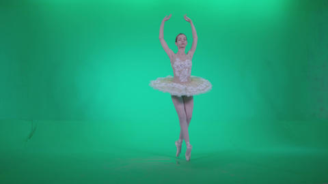 Ballet White Swan s1 - Green Screen Video Footage Live Action