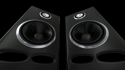 Speakers music vibrating sub cone beats bass club loudspeaker sound boom box 4k Live Action