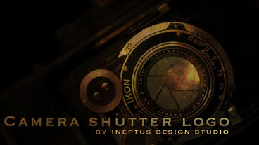 Camera shutter logo Apple Motion Template