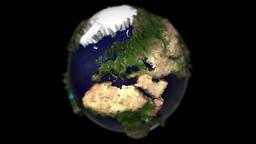 Earth miniature planet mini tiny globe small dof micro world model microscope 4k Footage
