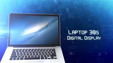 Laptop 30s Digital Display - After Effects Template After Effectsテンプレート