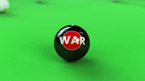 Balls breaking on pool table Animation