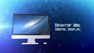 Desktop 30s Digital Display - Apple Motion and Final Cut Pro X Template Plantilla de Apple Motion