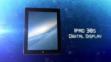 iPad 30s Digital Display - Apple Motion and Final Cut Pro X Template Plantilla de Apple Motion