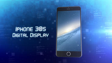 Phone 30s Digital Display - Apple Motion and Final Cut Pro X Template Apple Motionテンプレート