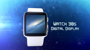Watch 30s Digital Display - Apple Motion and Final Cut Pro X Template Apple Motionテンプレート
