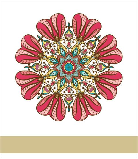 Coloured Mandala. Decorative round ornament. Element for design. Element for a p フォト