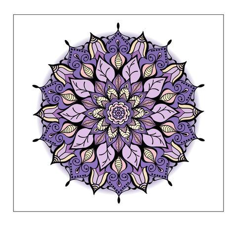 Coloured Mandala.Decorative round ornament. Element for Foto
