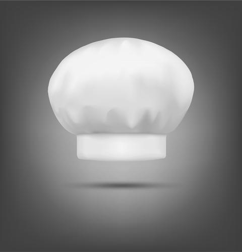 chef hat isolated on a gray background Photo