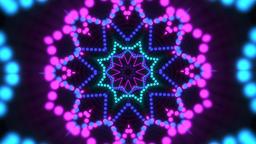 Stimulating kaleidoscope shapes on black Animation