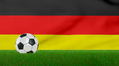 Ball on the Germany flag Animation