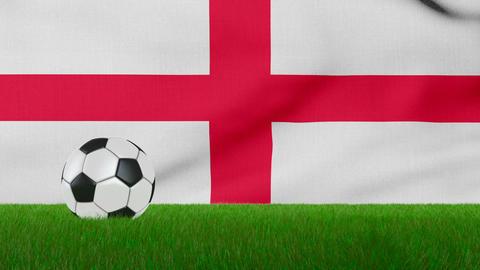 Ball on the England flag Animation