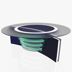 Virtual Tv Studio News Desk 6 Modelo 3D