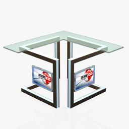 Virtual Tv Studio News Desk 3 3D Model