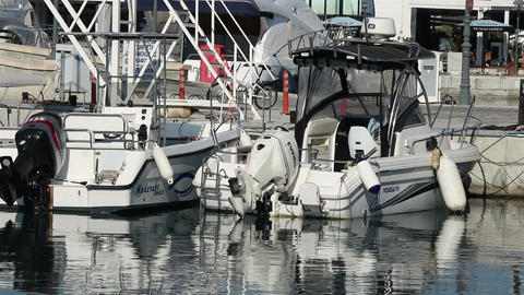 Limassol marina boats Footage