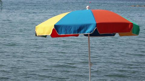View of a beach umbrella Footage