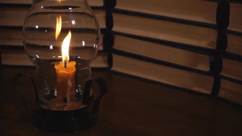 Candlestick with candle Archivo