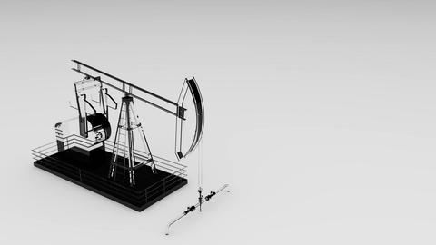 clean glass oil rig Animation