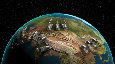 Oil Extracting Countries From The Space 0