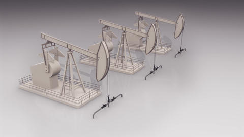 oil well in a studio Animation