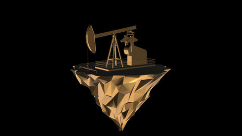 oil rig from the gold Animation