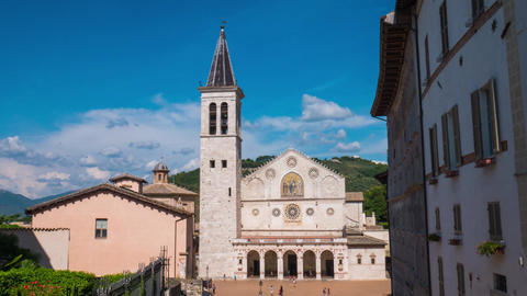 Spoleto cathedral timelapse, Umbria, Italy Footage