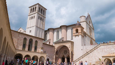 Assisi Basilica timelapse, Umbria, Italy Footage