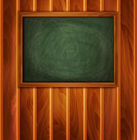 school board on a wooden background Fotografía