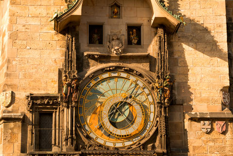 Ancient Astronomical Clock Foto