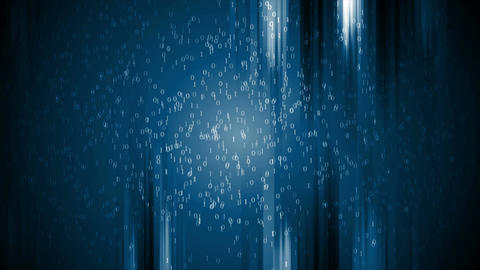 Dark blue technology binary code video animation Animation