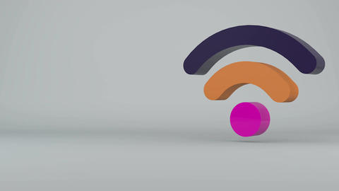 Wi-Fi Wireless Internet Icon. Seamless loop Animation