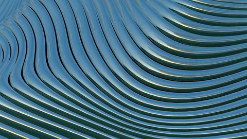 Metallic bands waving. Abstract technology. Seamless loop Animation