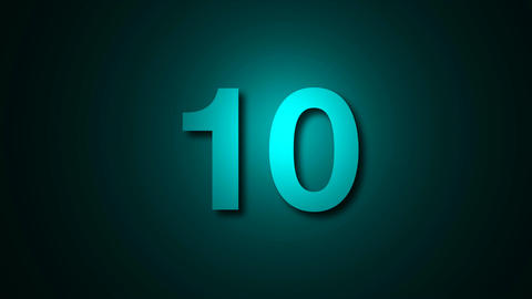 Countdown leader graphic 10 to 0. Computer graphic animation Animation