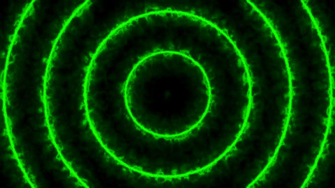 Abstract energy tunnel. Green digital background. Seamless loop Animation