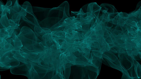 Abstract background with green smoke. Seamless loop Animation