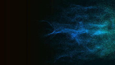 Particles dispersing and twisting. High quality clip... Stock Video Footage