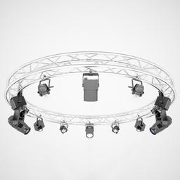 Stage Lights and Circle Square Truss 3D Model