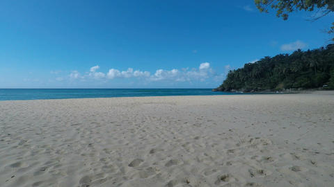 tropical beach in the dominican republic Image