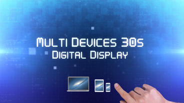 Multi Devices 30s Digital Display - Apple Motion Template and Final Cut Pro X Te Apple Motionテンプレート