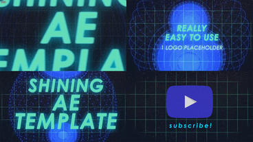 Shining YouTube Promo Logo Animation After Effects Template