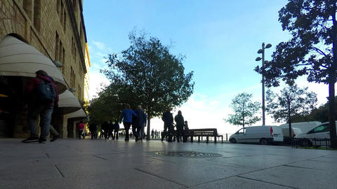 Pedestrian Road With Views Footage