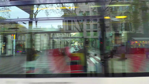 Public Transport Vehicles In The Big City Stock Video Footage