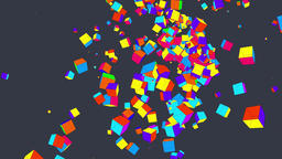 9 Colored Boxes Background