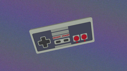 Retro Gamepad VJ Loop Image