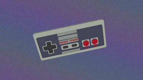 Retro Gamepad VJ Loop Animación
