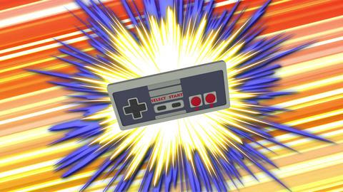 Retro Gamepad VJ Loop Animation