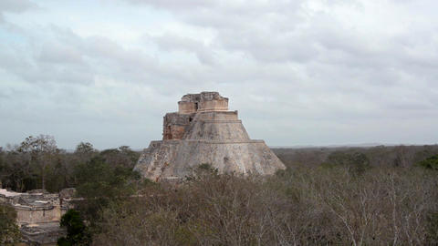 Magicians House in Uxmal Mexico Footage